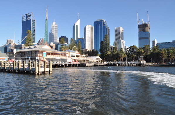 departing from Elizabeth quay in the perth CBD