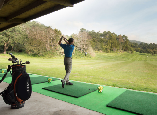 practice your swing next to the indian ocean